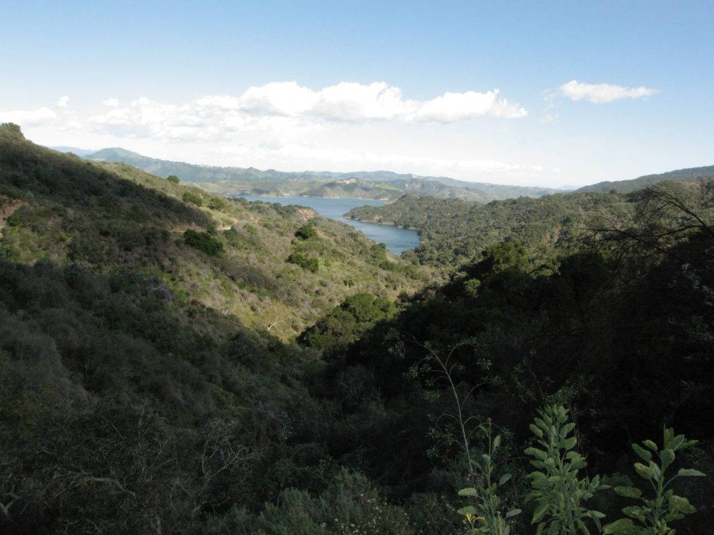 The western side of Lake Casitas from Hwy 150.